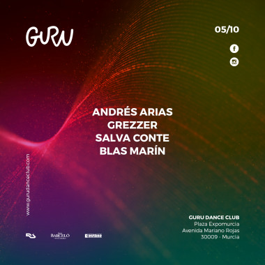Discoteca Guru Dance Club Murcia - Flyer 051018