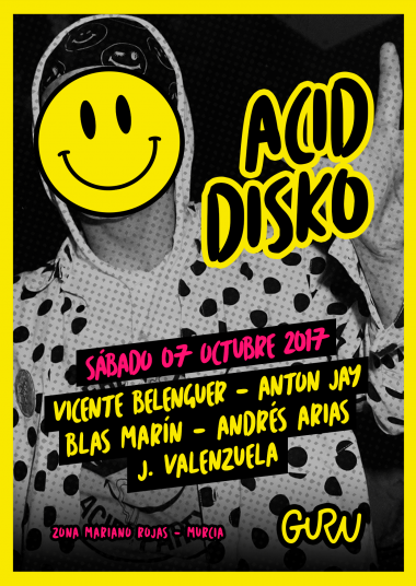 Discoteca Guru Dance Club Murcia - Flyer Acid Disko 2