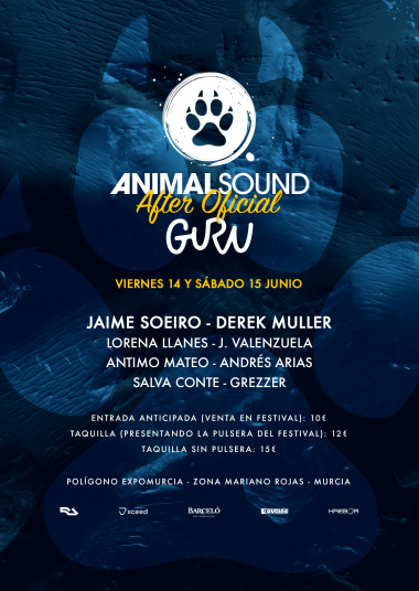 Discoteca Guru Dance Club Murcia - Flyer After Animal Sound