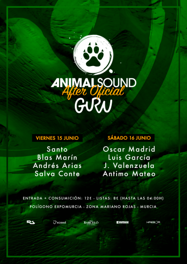 Discoteca Guru Dance Club Murcia - Flyer Animal Sound - After