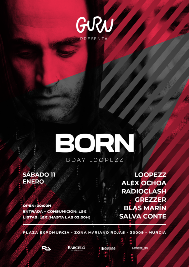Discoteca Guru Dance Club Murcia - Flyer Bday Loopezz