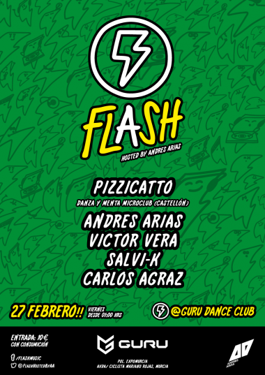 Discoteca Guru Dance Club Murcia - Flyer Flash