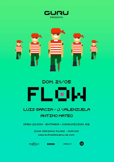 Discoteca Guru Dance Club Murcia - Flyer Flow