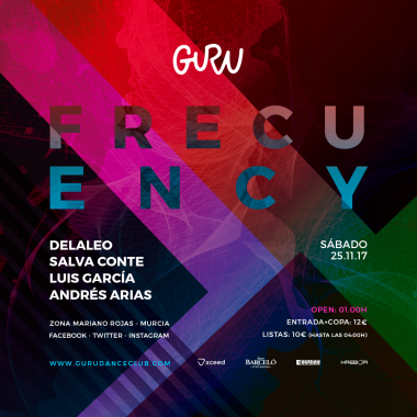 Discoteca Guru Dance Club Murcia - Flyer Frecuency