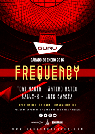 Discoteca Guru Dance Club Murcia - Flyer Frequency