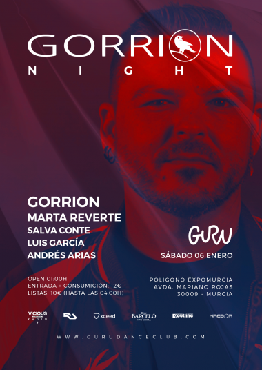 Discoteca Guru Dance Club Murcia - Flyer Gorrion Night
