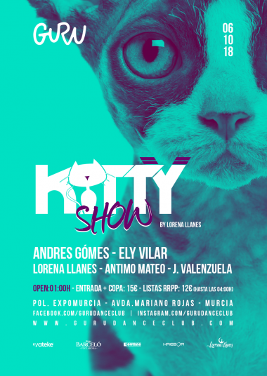 Discoteca Guru Dance Club Murcia - Flyer Kitty Show