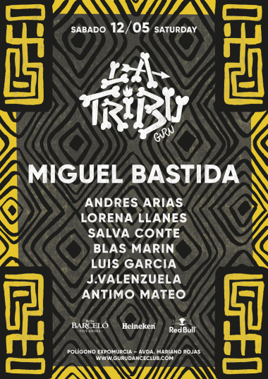 Discoteca Guru Dance Club Murcia - Flyer La Tribu 3.0