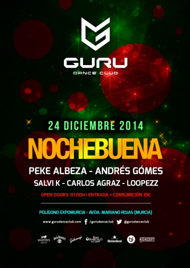 Discoteca Guru Dance Club Murcia - Flyer Nochebuena 2014