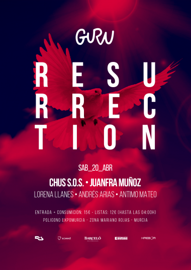 Discoteca Guru Dance Club Murcia - Flyer Resurrection