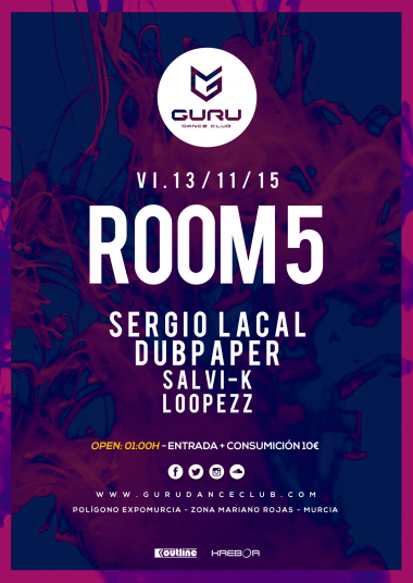 Discoteca Guru Dance Club Murcia - Flyer Room 5