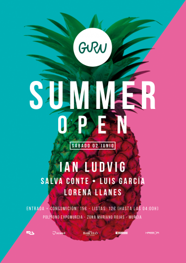 Discoteca Guru Dance Club Murcia - Flyer SUMMER OPEN