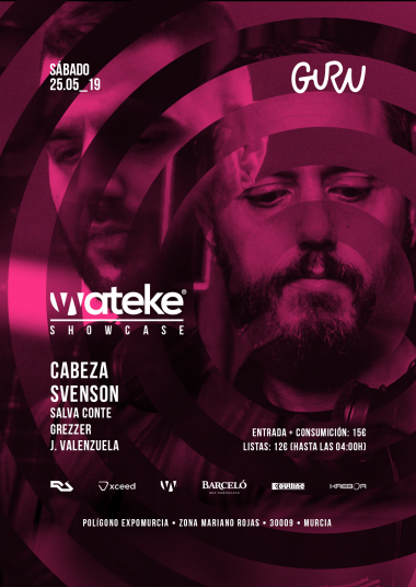 Discoteca Guru Dance Club Murcia - Flyer Wateke