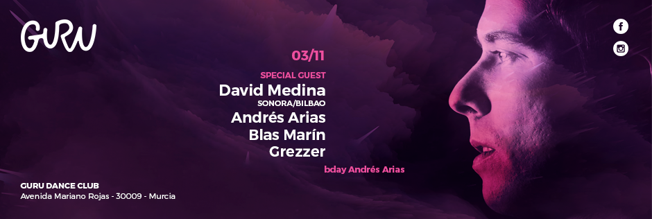 Discoteca Guru Dance Club Murcia - Slide B-Day Andrés Arias
