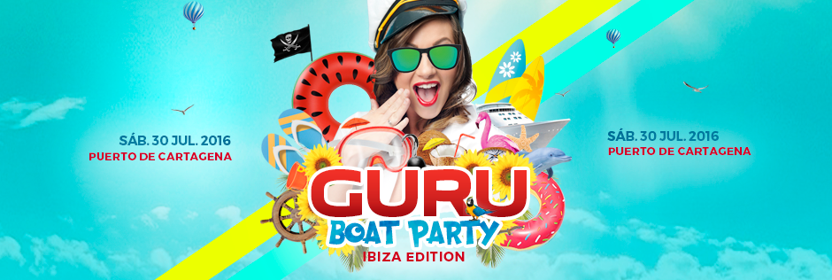 Discoteca Guru Dance Club Murcia - Slide Guru Boat Party 2016